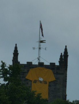 Skipton Castle sports a yellow jersey.